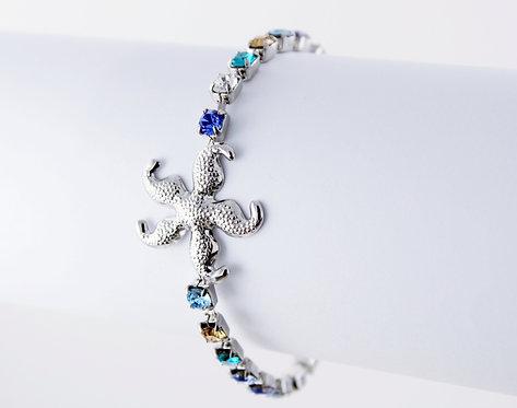 Starfish Rhinestone Bracelet
