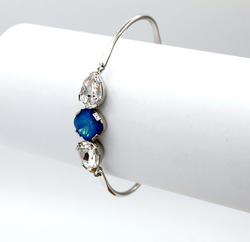 Caribbean Blue Opal & Clear Crystal