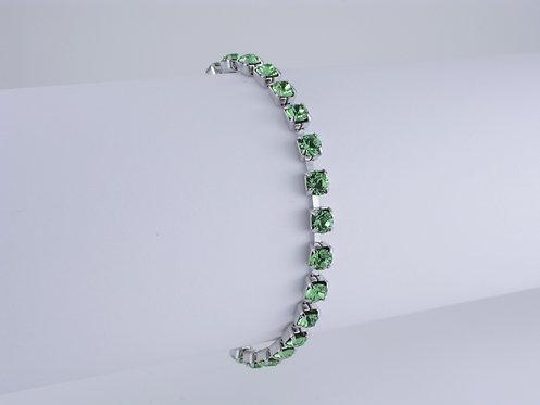 Peridot Rhinestone Bracelet