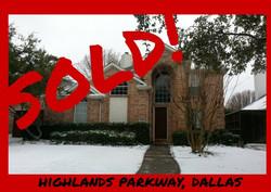 Highlands Parkway, Dallas