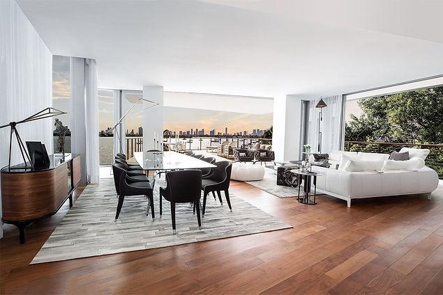 Monad Terrace Living Room by Juan Pablo