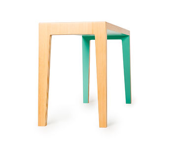 sleek modern designr bench made from sustainable material. eco-furniture Vancouver B.C. that is perfect condo furniture