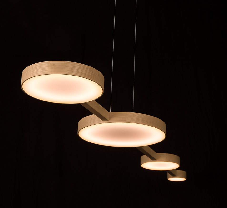 Modern lighting design, perfect for the home or public space