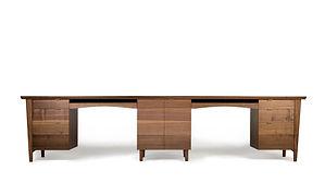 Custom Black walnut desk for two people