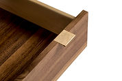 Pencil drawer in custom made Black walnut desk