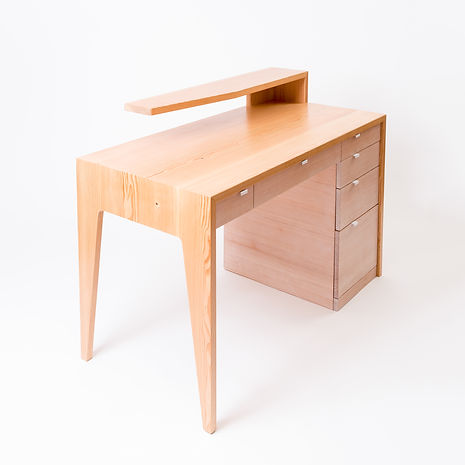 this is a custom made wood desk that was for aclient in vancouver b.c. we make custom office desks for the office and home office. All of our furniture is designed and made in our east vancouver studio.