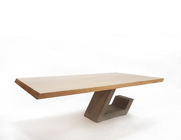 custom made coffee table that defies gravity with its cantilevered design. Perfect for the modern home