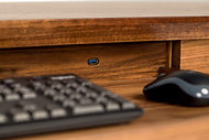 Pullout keyboard tray with built in USB  and lock out feature