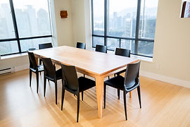Cstom made expanding dining table in Vancouvr BC