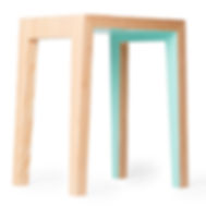 Modern designer stool that is made in Canada with bright colors. perfect for your north van furniture collection