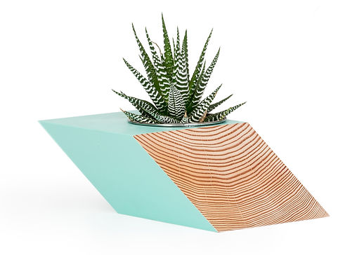 modern planter for succulents or can be used as acandle holder. its is designed and made in vancouver b.c. by local designer Romney Shipway. Its modern geomtric shape is grea for the modern vancouver condo. great local xmas gift in vancouver. these bright colours will add a pop to any room for that interior designer touch