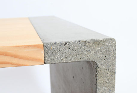 designer concrete coffee table made in vancouver B.C.