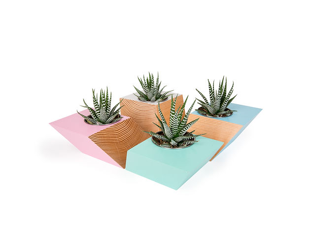 Modern geometric planter made in vancouver b.c. from eco-friendly materials. these bright coloured platers are a great way to add a pop of color to your home. perfect for modern vancouver condo living