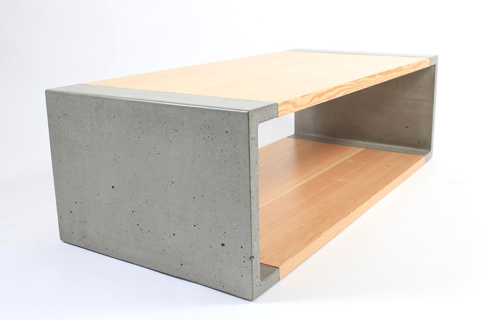 Modern concrete coffee table made for the modern home