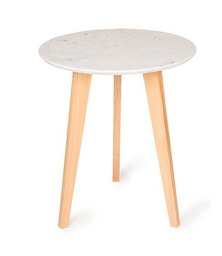 sleek designer bistro table for the indoors or outdoors