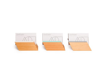 Modern business card holders made in vancouver b.c. from eco friendly materials. these are unique business card holders with a geometric shape
