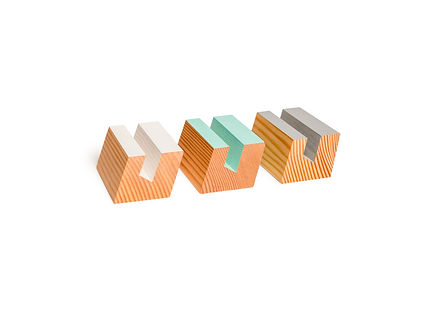 modern designer business card holders with a geometric shape. these card holders come in many colors and are very fun