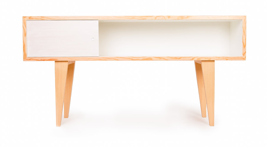 modern credenza or media console made in vancouver b.c. from sustainable materials to add to the local eco furniture options