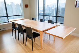 custom made 12 person dining table, hand made in Vancouver B.C.