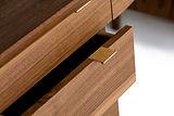 Custom made black walnut desk with drawers