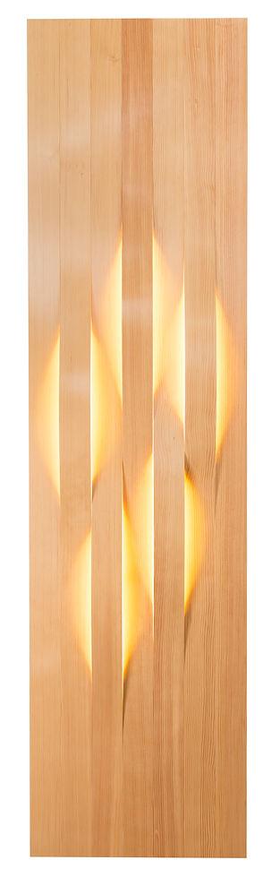 Bent wood lighting installation Vancouver B.C.