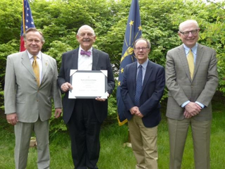 Facilities Committee Member, Jim Kienle, Recipient of DAR Preservation Award
