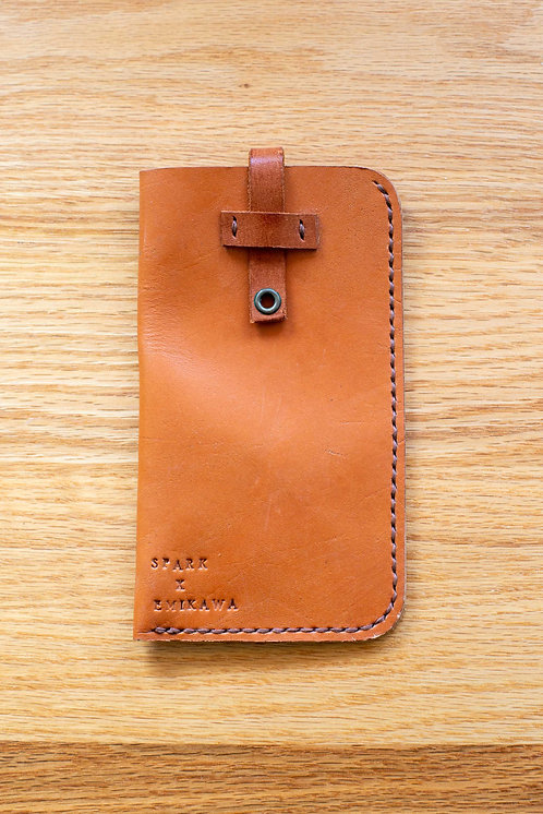 Genuine Tanned Leather case by SPARK x EMIKAWA