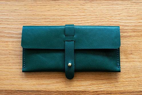 Olive Green Genuine leather case by SPARK x EMIKAWA