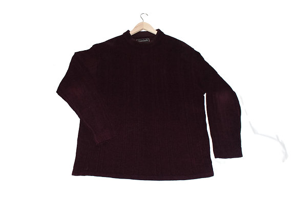 Burgundy Suede Sweater