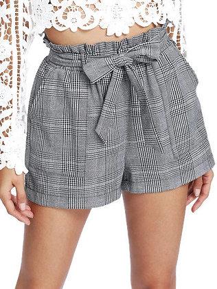Tied Down Plaid Shorts