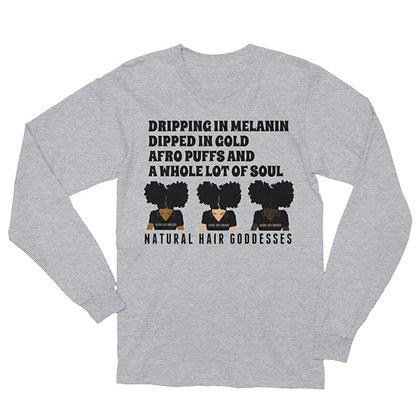 Dripping in Melanin (NHG) Long Sleeve T-Shirt