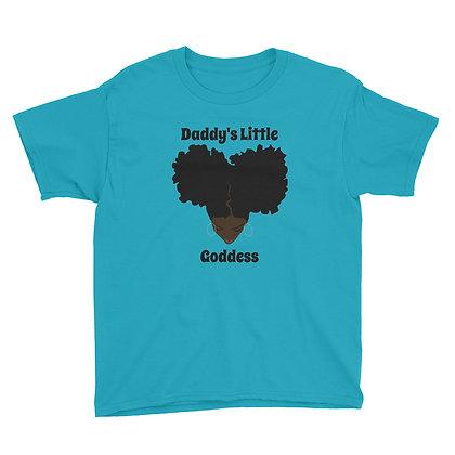 Dark Skin Daddy's Little Goddess Youth T-shirt