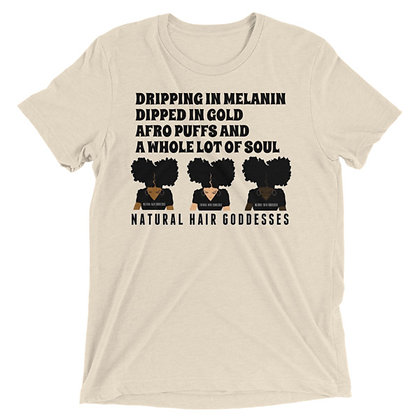Dripping in Melanin (NHG) Short sleeve t-shirt