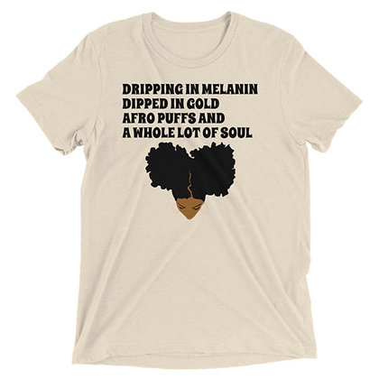 Dripping in Melanin (Caramel) Short sleeve t-shirt