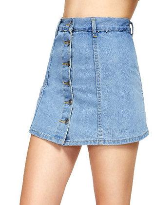 Button Me Down Skirt