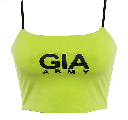 GIA Army Crop Top