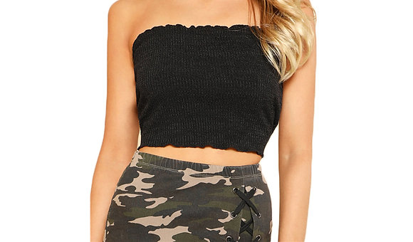 Ribbed Bandeau Top