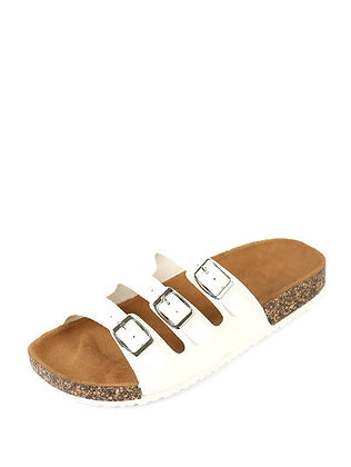 Three Buckle Cork Sandal