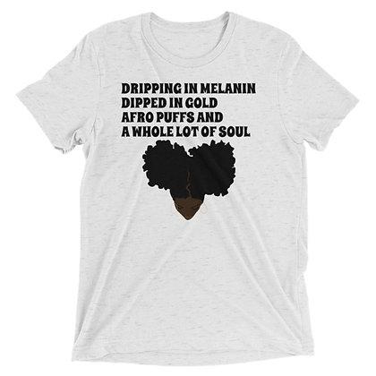 Dripping in Melanin (Darkskin) Short sleeve t-shirt