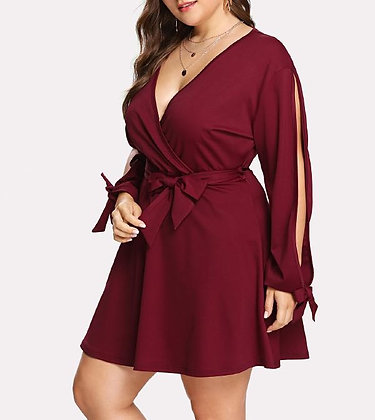 TIed Wrap Up Dress