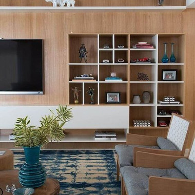 Storage Unit with TV Panel