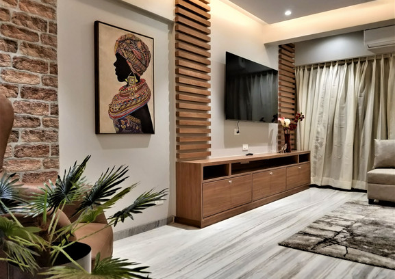 Luxerior Vile Parle Project Living Room