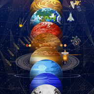 Interior Art Piece Planet