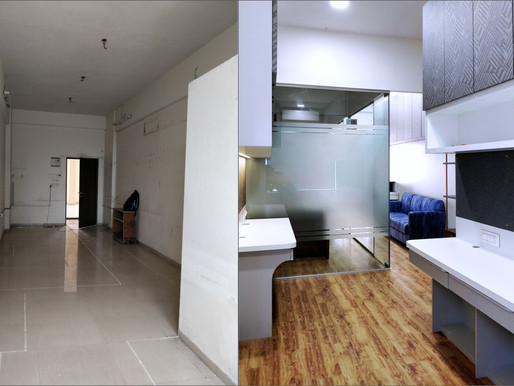 Before & After Interior Transformation of an Office