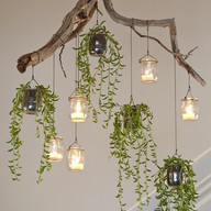 Hanging light decor