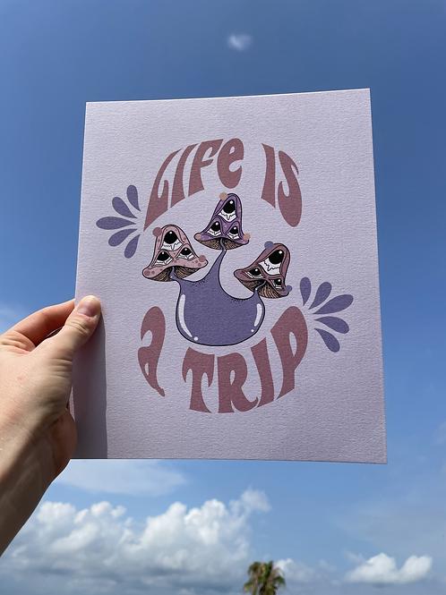 Trippy Mushroom Print