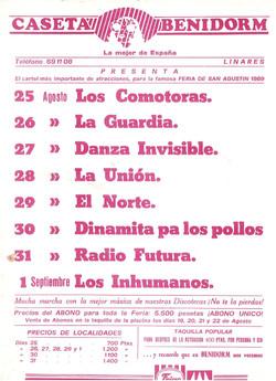 Flyer Concierto 1989