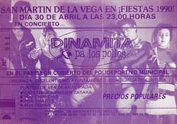ENTRADA CONCIERTO 1990
