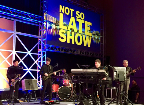Paradigm Party Band Performs at Not So Late Show!