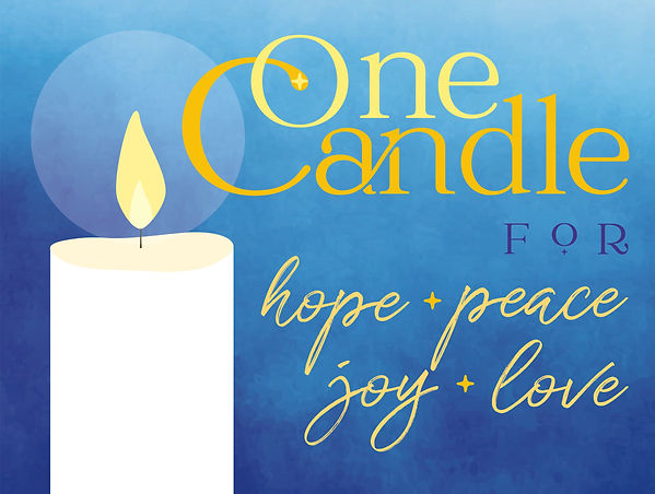 One Candle Sign.jpg